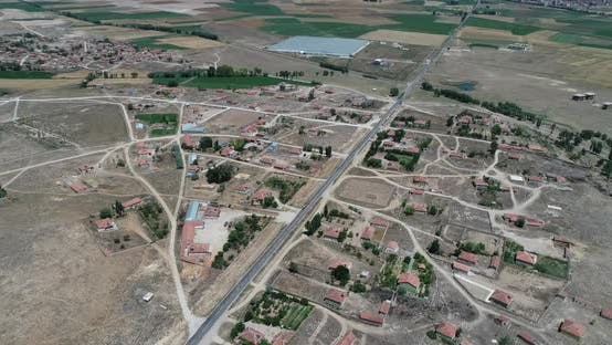 Thumbnail for Village And Vast Field Aerial View