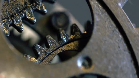 Thumbnail for Retro Rusty Mechanic Clock Gears 17