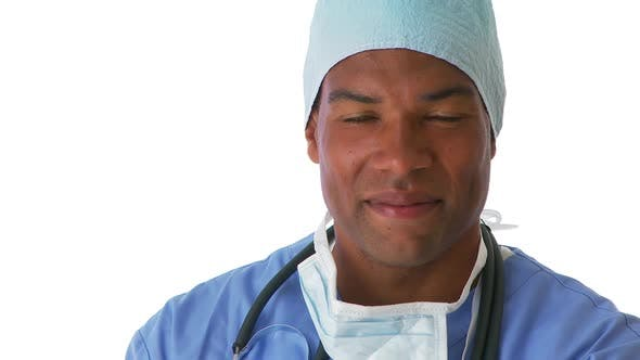Thumbnail for Close up of male surgeon