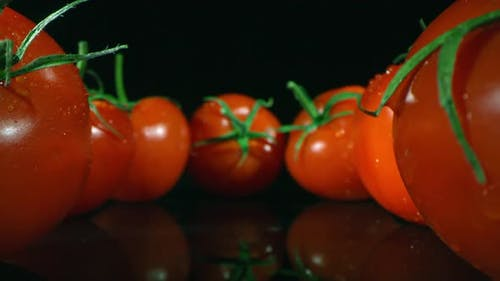 Macro Shot Of Homegrown Tomatoes