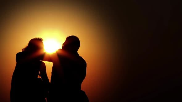 Thumbnail for Couple Lovers Silhouette And Sun 2