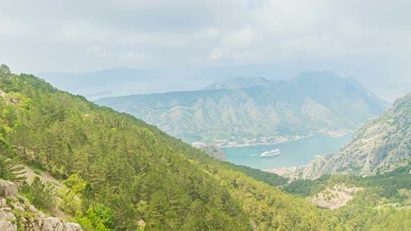Beautiful Natural Bay, Travel Destination View, Fjord of Kotor, Montenegro