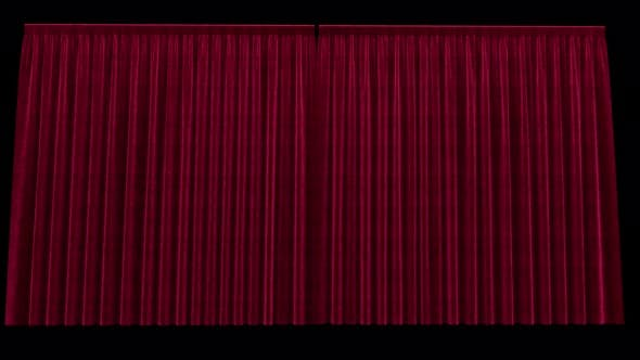 Opening Red Velvet Curtains with Alpha Channel