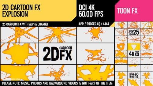 2D Cartoon FX (Explosion Set 19)