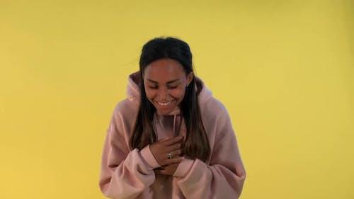 Multiracial Girl Laughing at Somebody
