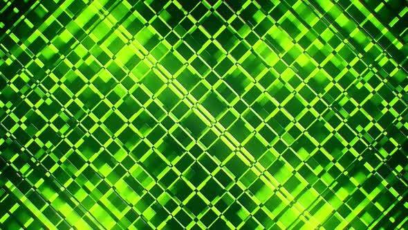 VJ Green Neon Grid