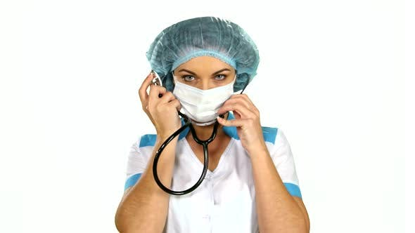 Thumbnail for Doctor with Stethoscope on White Background