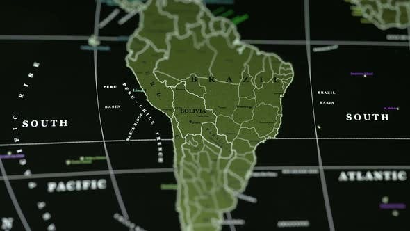 Thumbnail for Brazil On The Physical Map Of The World