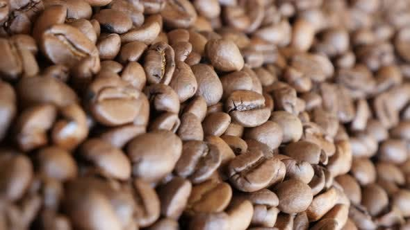 Thumbnail for Shallow DOF coffee beans  background  arabica type slow dolly 4K 3840X2160 UHD video - Fresh roasted