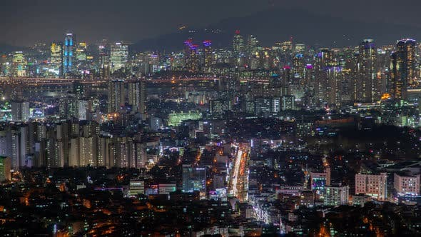 Thumbnail for Panorama of Seoul Illumination Korea Cityscape