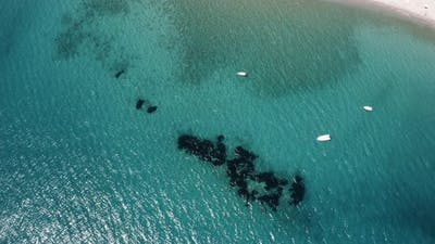aerial view of italian coral reef