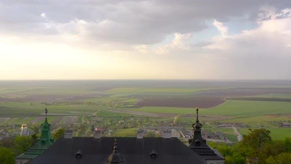 Aerial View of Pidhirtsi Castle Ukraine