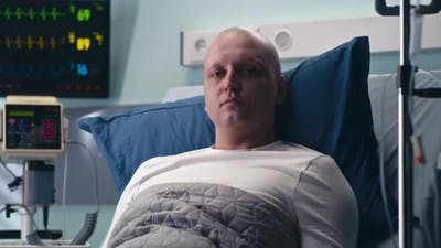 Cancer Patient on Hospital Bed