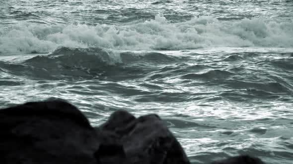 Thumbnail for Evening Waves and Defocused Rocks