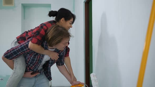 Thumbnail for Couple Doing Home Makeover with White Color