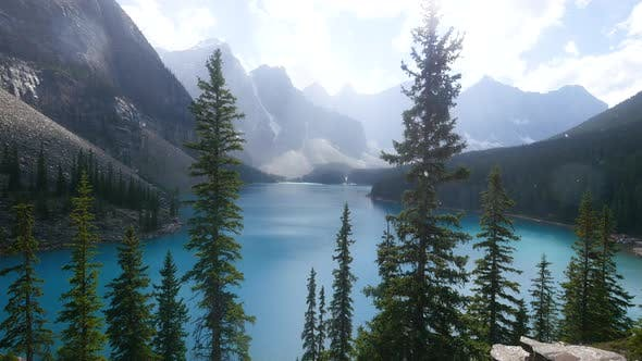 Thumbnail for Snowing at Moraine Lake