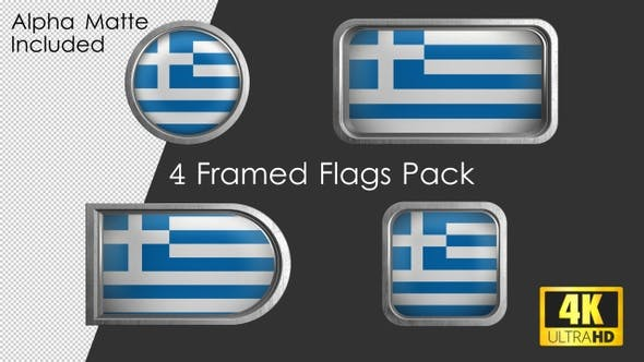 Thumbnail for Framed Greece Flag Pack