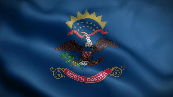 Thumbnail for North Dakota State Flag Blowing In Wind