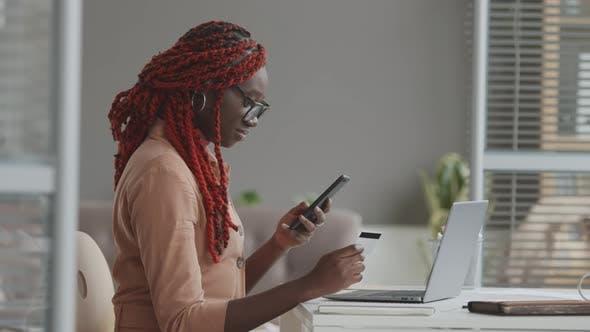 African Businesswoman Shopping Online