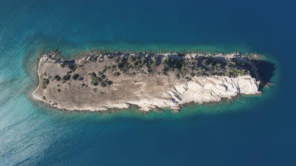 Drone Blue Sea Island Travel