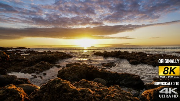 Thumbnail for Epic sunset timelapse on Tenerife island, with movement