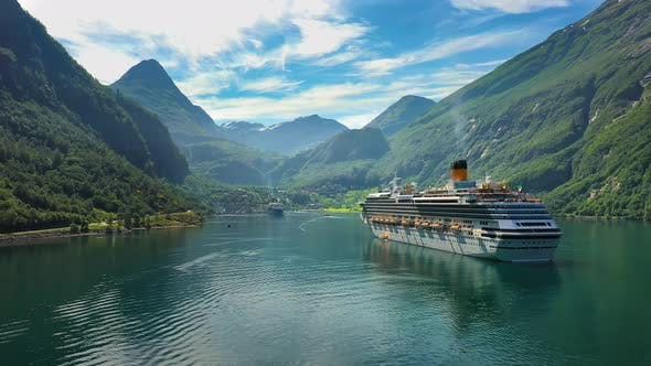 Thumbnail for Cruise Liners On Geiranger Fjord, Norway