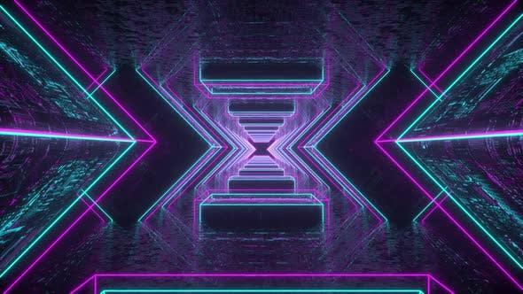 Neon Cyber Tunnel