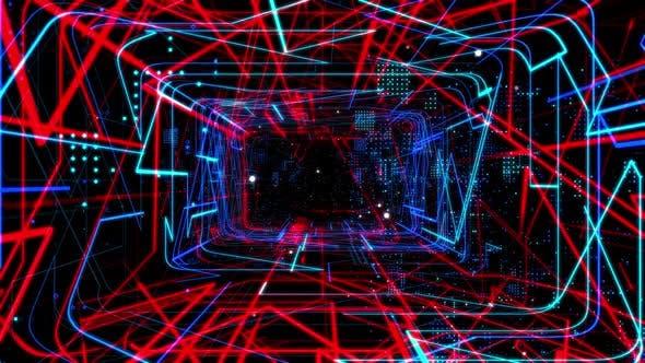 Thumbnail for Laser Network Tunnel Light 01 4K