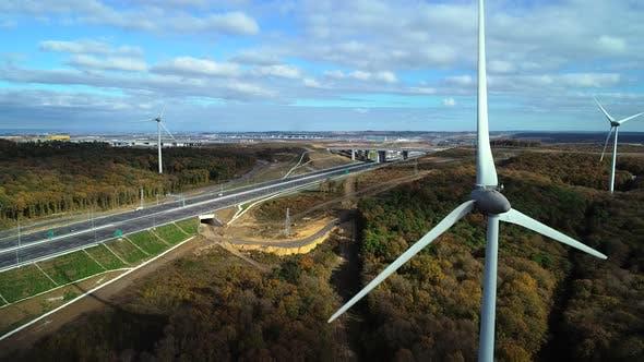 Windmills With Freeway
