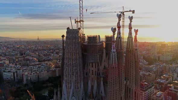 Thumbnail for Cathedral of Sagrada Familia and Barcelona City Downtown
