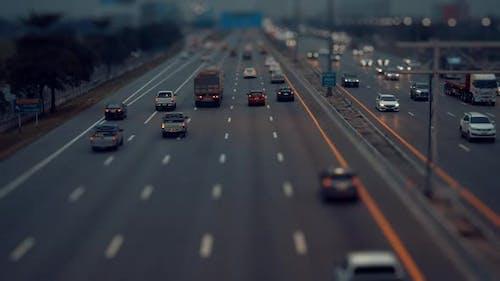 Traffic Lights In Highway