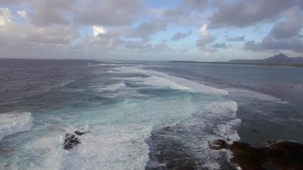 Thumbnail for Foamy Waves of Indian Ocean, Aerial View