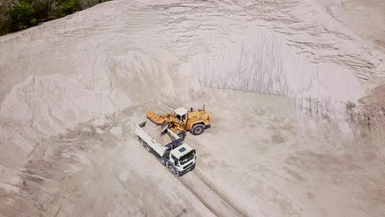Thumbnail for The Work of Loading Equipment in the Sand Quarry