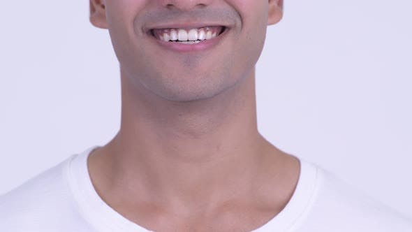 Thumbnail for Mouth of Happy Young Indian Man Smiling and Laughing