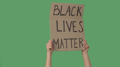 Protesting Poster with Inscription BLACK LIVES MATTER. Background To Illustrate the Movement for the