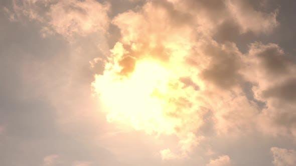 A warm sun shining in summer