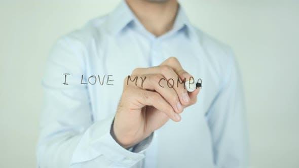 Thumbnail for I Love My Company, Writing On Screen