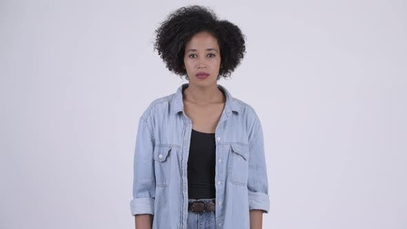 Thumbnail for Young Beautiful African Woman with Afro Hair