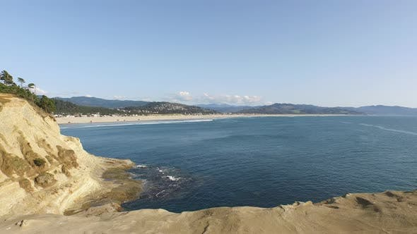 Thumbnail for Aerial shot of Pacific City Oregon