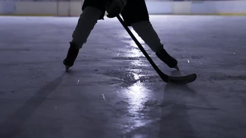 Ice Arena Hockey Player