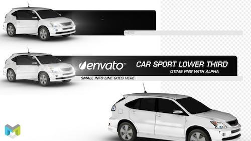 Car Sport Lower Third