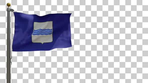 Thumbnail for Basilicata Flag on Flagpole with Alpha Channel
