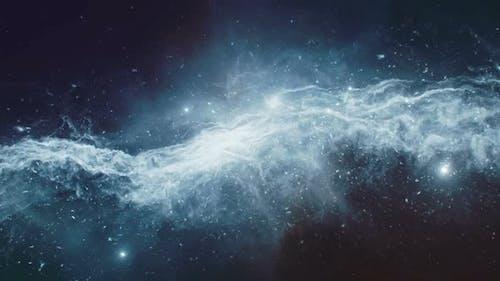 CGI Animation of Flight Towards Nebula