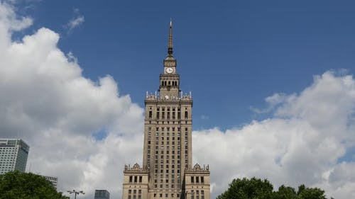 Time lapse from the Palace of Culture and Science