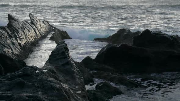 Thumbnail for Rocky Black Coast of Volcanic Island