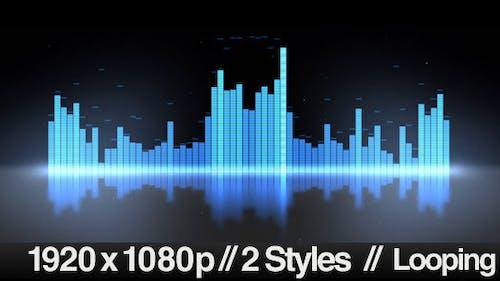 Equalizer VU Meters Modern Audio - 2 Styles Loop