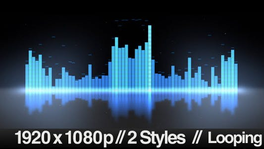 Thumbnail for Equalizer VU Meters Modern Audio - 2 Styles Loop