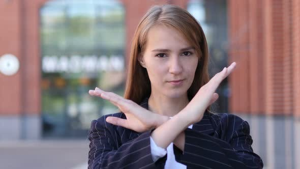 Thumbnail for Rejecting, Disliking Gesture by Businesswoman