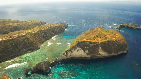 Thumbnail for Rock in the Ocean at Atuh Beach on Nusa Penida Island, Indonesia