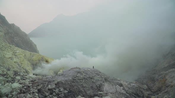 Thumbnail for Volcanic Crater, Where Sulfur Is Mined